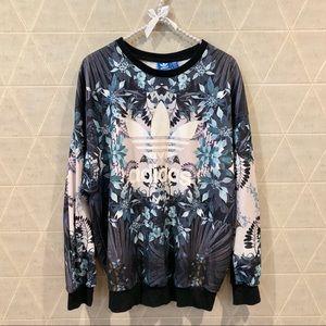 Adidas Originals floral sweatshirt M